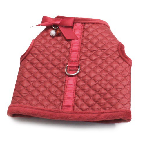 Abrigo con arnés Diamond rosa para perros