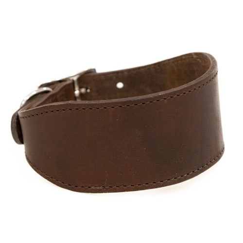 Collar de cuero para galgos Namur marrón