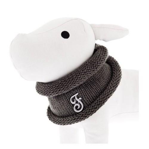 Bufanda circular para perros gris