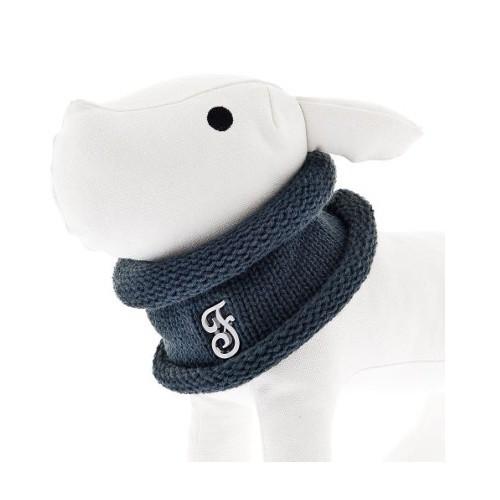 Bufanda circular para perros azul