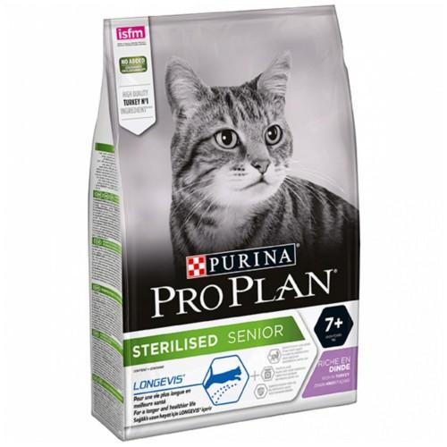 Purina Pro Plan Sterilised Adult 7+ Pavo