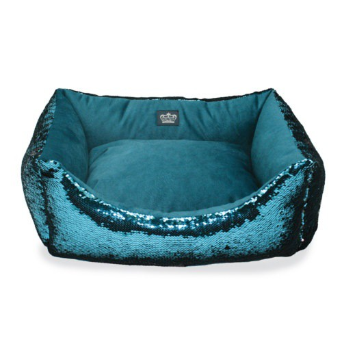 Glitter cradle for turquoise dogs and cats