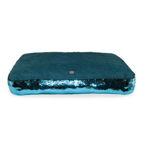 Glitter mattress for turquoise dogs