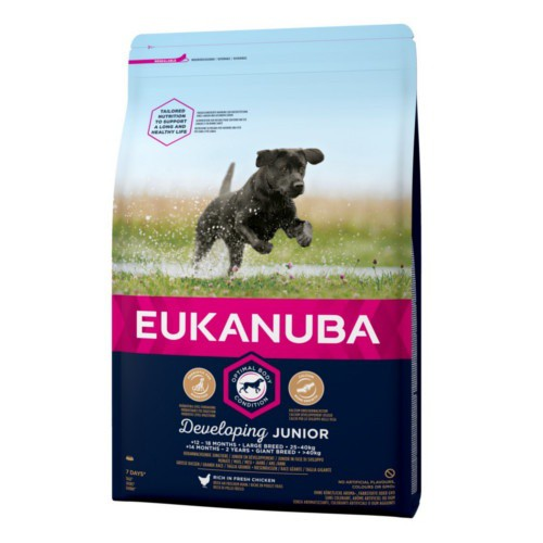 Pienso Eukanuba Junior para cachorros grandes