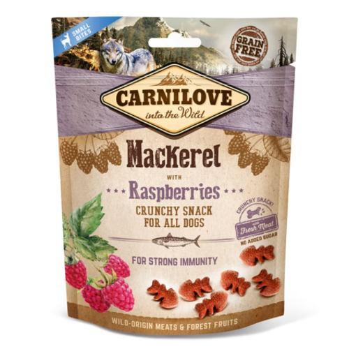 Carnilove Crunchy Snack Caballa con frambuesas