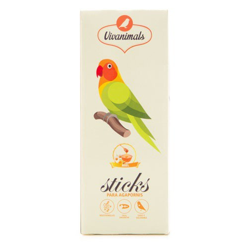 Barritas para agapornis Vivanimals Sticks Miel
