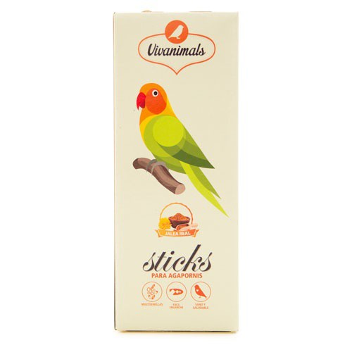 Barritas para agapornis Vivanimals Sticks Jalea real