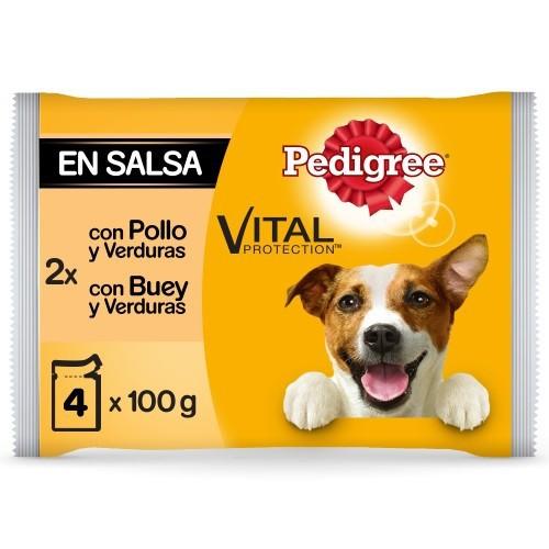 Multipack Pedigree Pollo, Buey y verduras en salsa