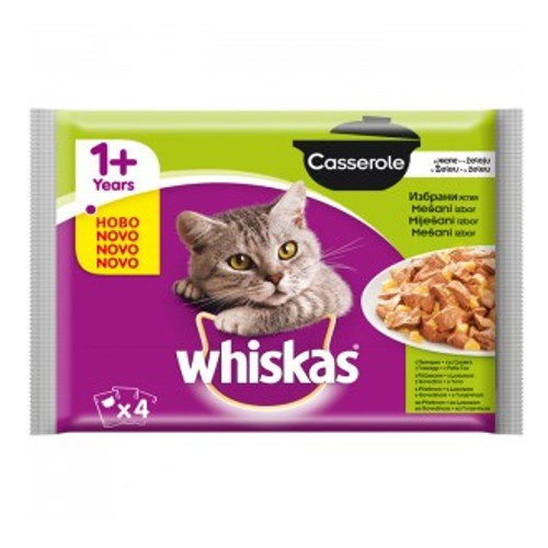 Pack Whiskas Casserole Carne y pescado