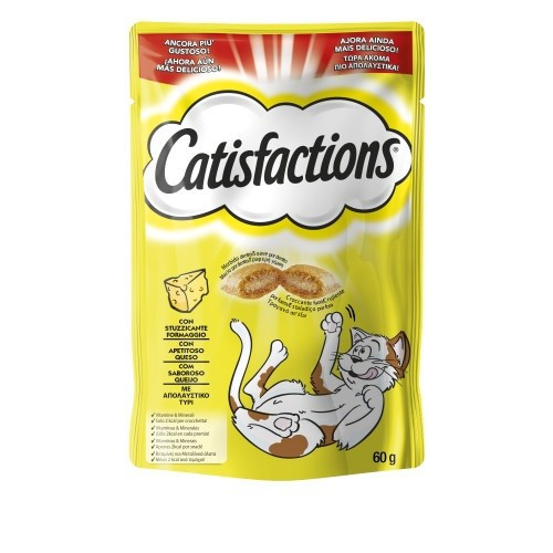 Snack para gatos Catisfactions sabor queso