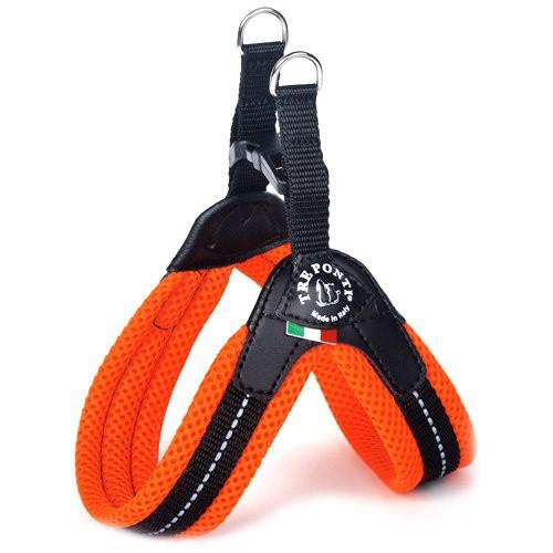 Arnés acolchado para perros Tre Ponti naranja