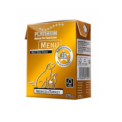 Alimento húmedo Platinum Menu Ibérico y Pavo