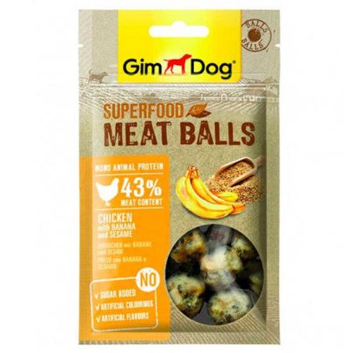 GimDog Balls Pollo con plátano y sésamo
