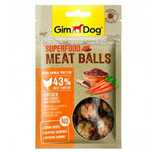 GimDog Balls Pollo con zanahorias y lino