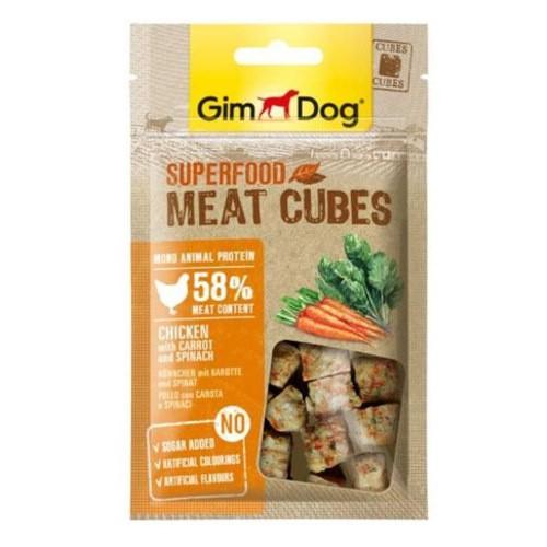GimDog Cubes Pollo con zanahorias y espinacas
