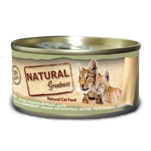 Comida húmeda Natural Greatness Pollo, hígado y huevo para gatitos