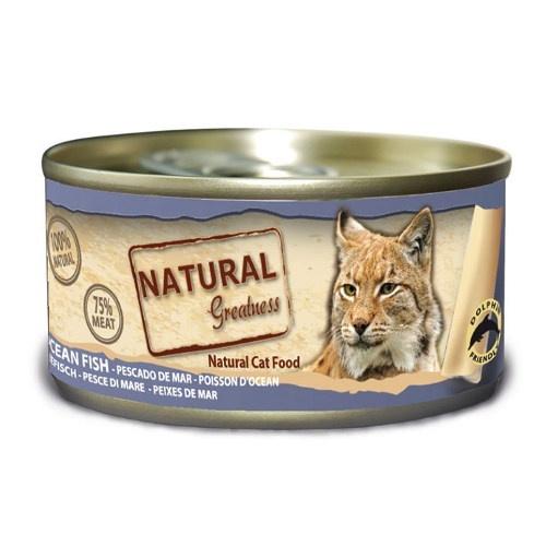 Comida húmeda Natural Greatness Pescado de Mar para gatos