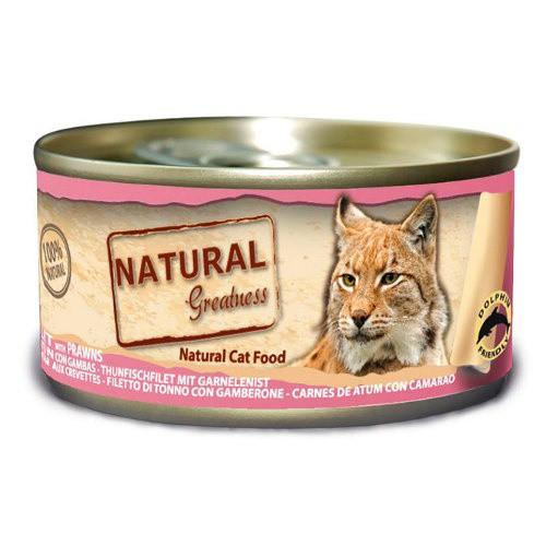 Natural Greatness Atún y gambas para gatos