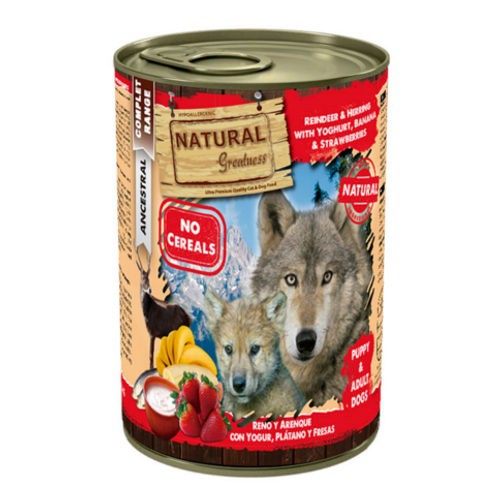 Natural Greatness Reno, arenque y yogur para perros