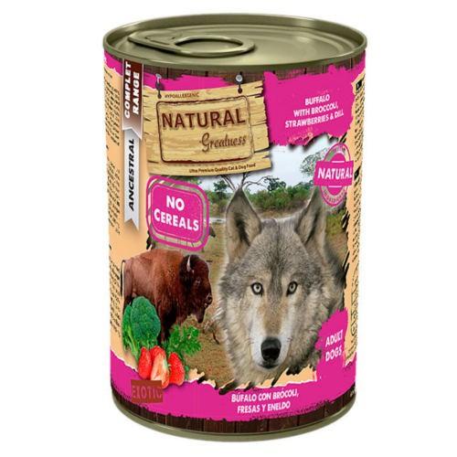 Natural Greatness Búfalo, brócoli y fresas para perros