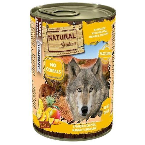 Pienso Natural Greatness Canguro y piña para perros