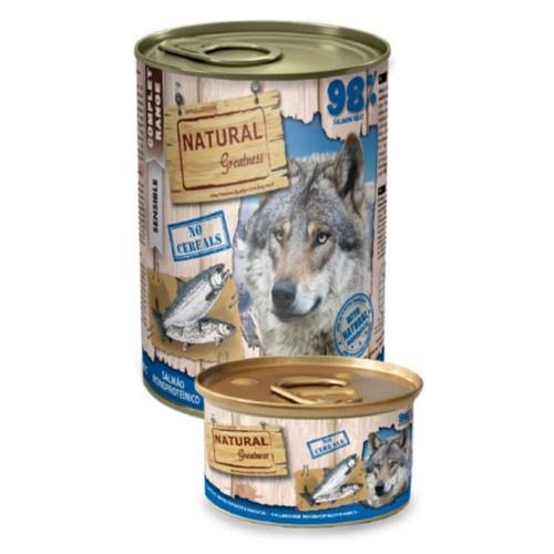 Comida húmeda Natural Greatness Salmón para perros
