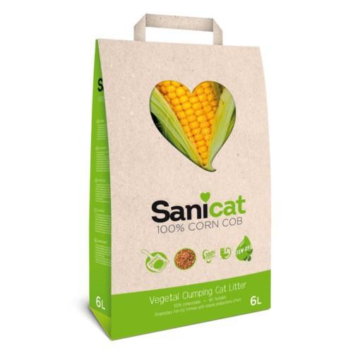 Sanicat 100% Corn Cob arena natural de maíz