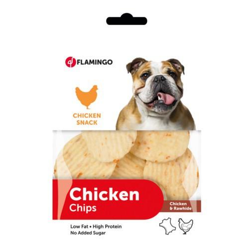Chips de piel masticable con pollo