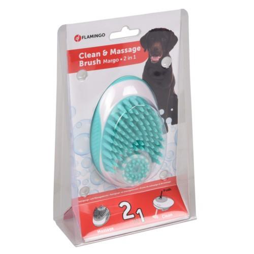 Cepillo de limpieza y masaje para perros