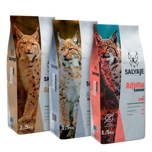 Pack Degustación pienso Salvaje para gatos