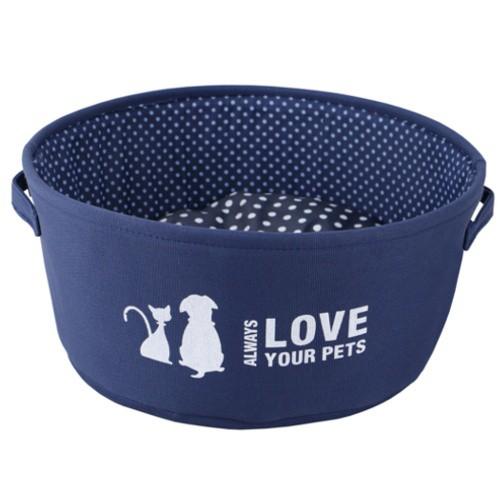Cuna para perros y gatos Always Love azul