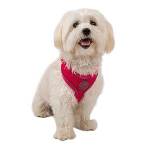 Arnés de alta visibilidad TK-Pet Soft rosa