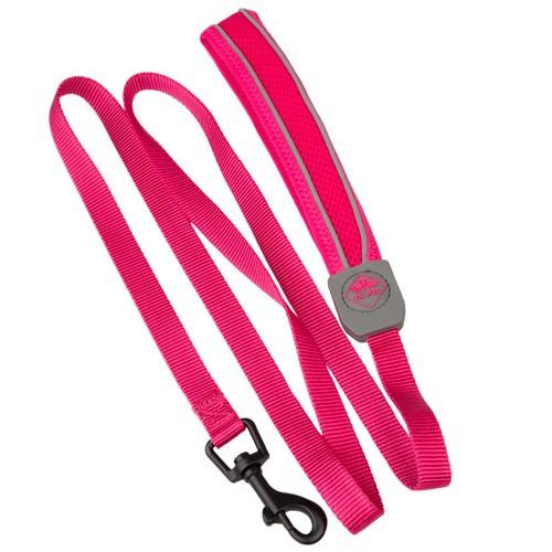 Correa de alta visibilidad TK-Pet Soft rosa