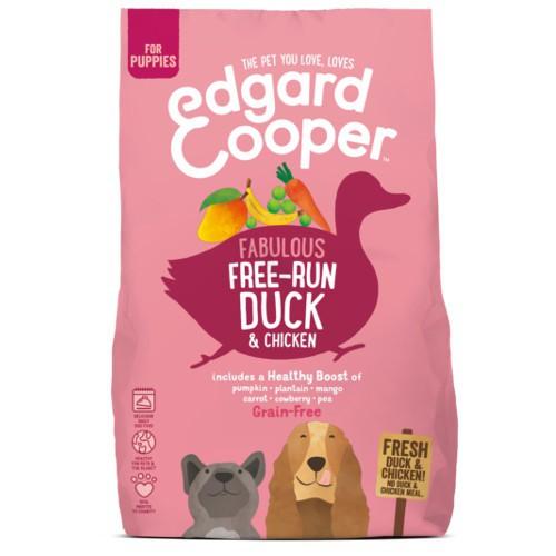 Pienso Edgard & Cooper Pato y Pollo fresco para cachorros