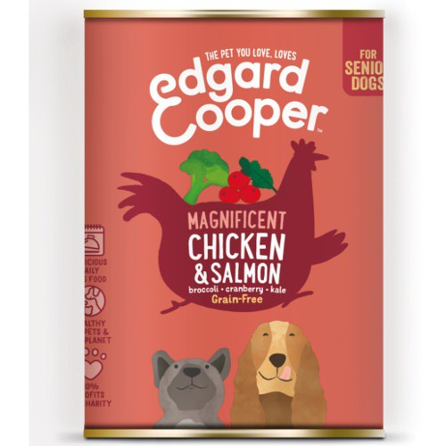 Lata Edgard & Cooper Senior Pollo y Salmón para perros