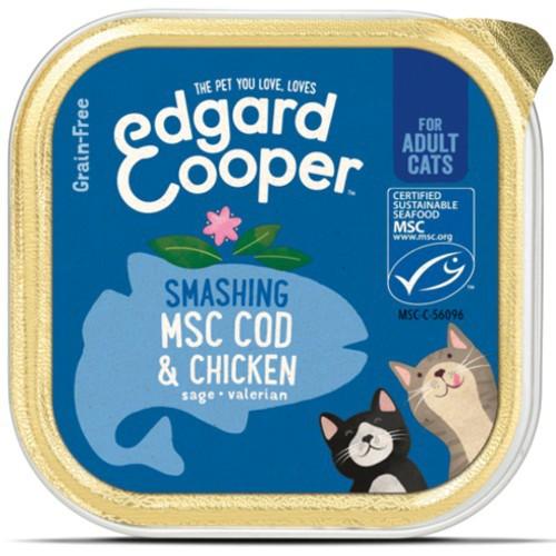 Tarrina Edgard & Cooper Pollo y Bacalao para gatos