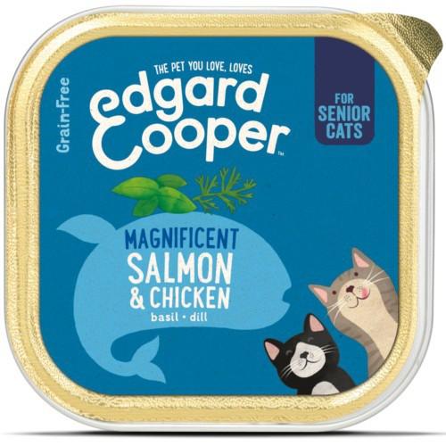 Tarrina Edgard & Cooper Senior Pollo y Salmón para gatos