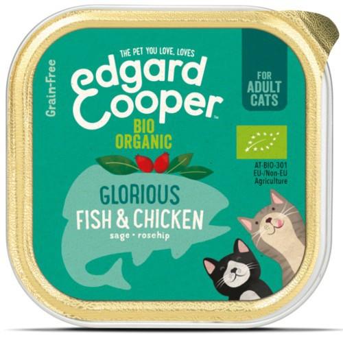 Tarrina Edgard & Cooper Pollo y Pescado Bio para gatos