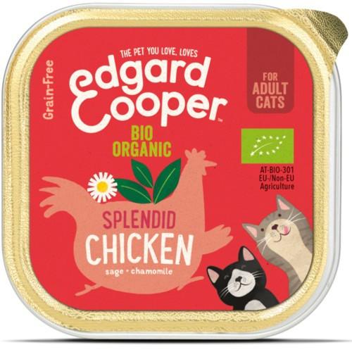 Tarrina Edgard & Cooper Pollo Bio para gatos