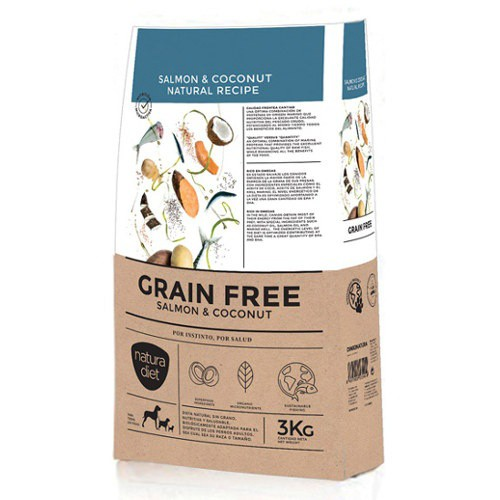 Pienso Natura Diet Grain Free salmón y coco