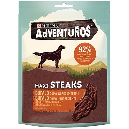Snacks Purina Adventuros Maxi Steaks Búfalo