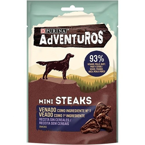 Snacks Purina Adventuros Mini Steaks Venado