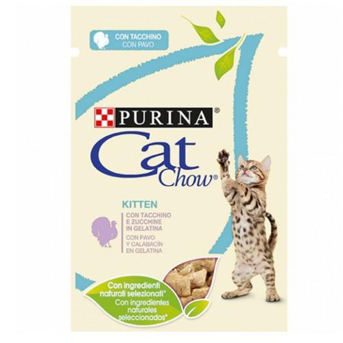 Purina Cat Chow pavo en gelatina para gatitos