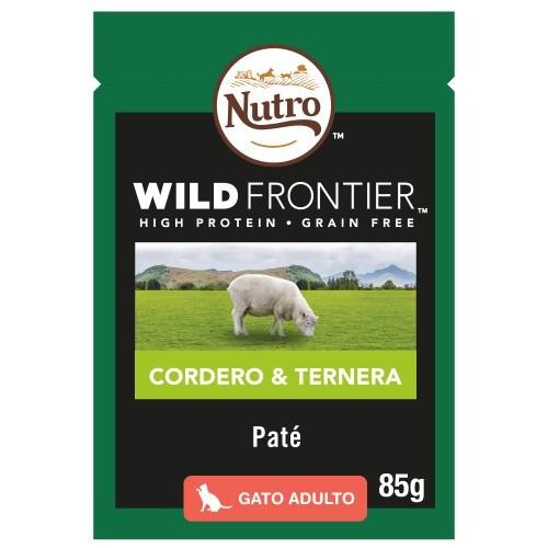 Paté Nutro Wild Frontier cordero y ternera para gatos