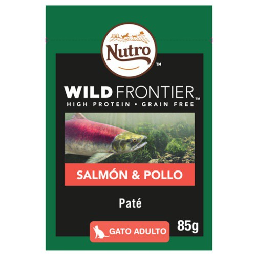 Paté Nutro Wild Frontier salmon and chicken for cats