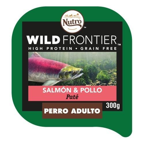 Paté Nutro Wild Frontier salmón y pollo para perros
