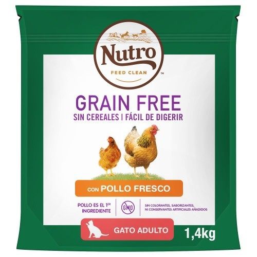 Nutro Grain Free pienso con pollo para gatos