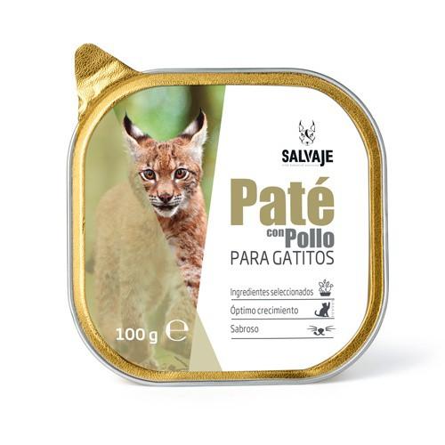 Tarrina de Paté Salvaje con pollo para gatitos