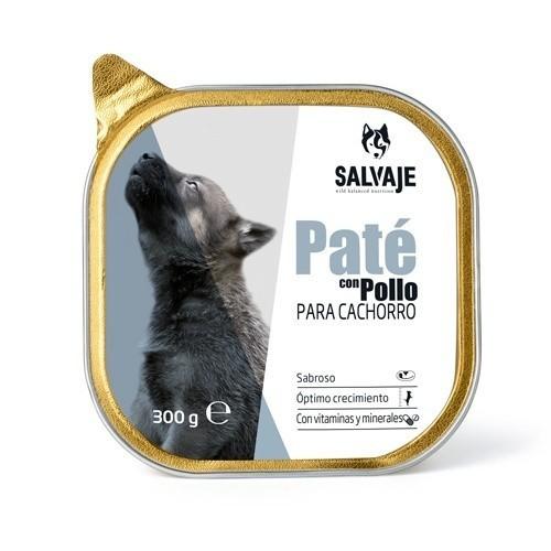 Tarrina de Paté Salvaje con pollo para cachorros