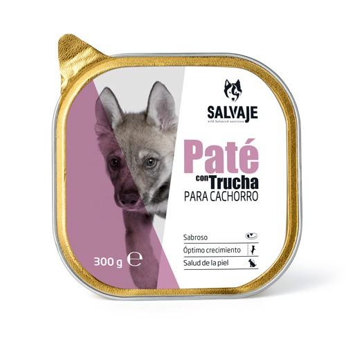 Tarrina de Paté Salvaje con trucha para cachorros